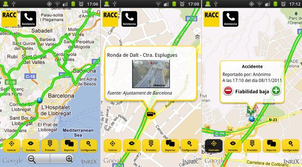 Información de tránsito RACC